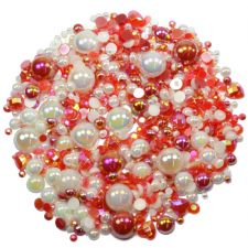 'STRAWBERRY N CREAM' Theme Rhinestone and Pearl Embellishment Pack